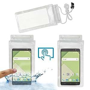 ACM Waterproof Bag Case for Xolo Era 2 Mobile (Rain,Dust,Snow & Water Resistant) Transparent