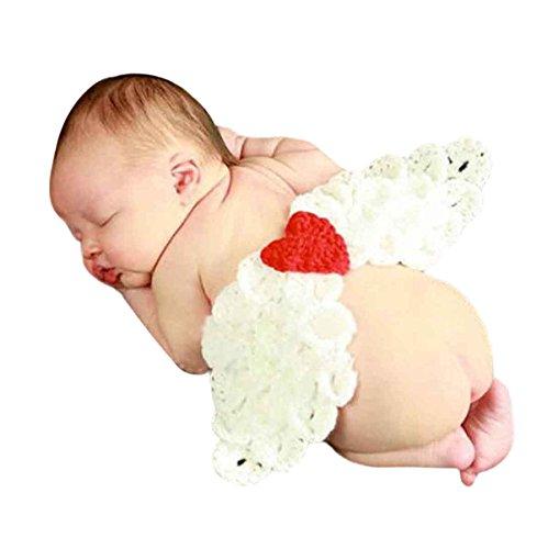 Happy Cherry Neugeborenes Baby Foto Kostüm Engelsflügel Figur Fotografie Prop Handarbeit Fotoshooting Kleidung Unisex Baby Junge Mädchen Trikot Foto Zubehör Für 3-4 Monate Für 0-4 Monate (Pair Mädchen Kostüm Für Jungen)