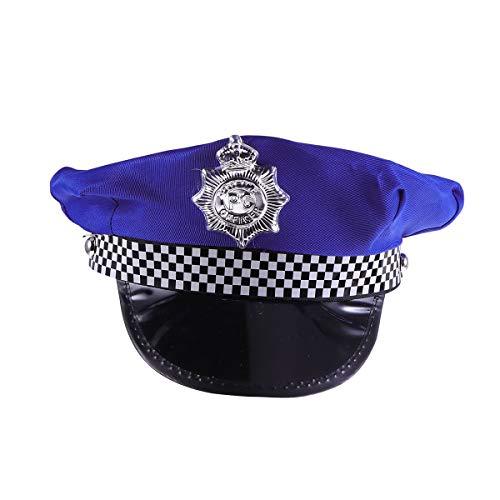 Amosfun Cosplay Kostüm Polizei Hut Cop Hut Uniform Party Supplies Partyhüte Polizei Kostümzubehör