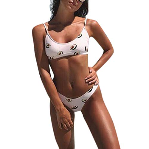 TOPKEAL Badeanzug Damen Neckholder Bademode Sexy Push up Tankini Bandeau mit Bikini Triangle
