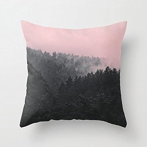 La forêt Mountians Taie d'oreiller de cadeau, décoration de 50,8x 50,8cm/50par 50cm, pour femme, anniversaire, Saint Valentin, une salle de manger, son épouse, côtés (deux fois)