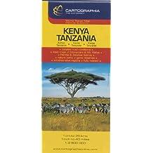 Kenya, Tanzania (Country Map)