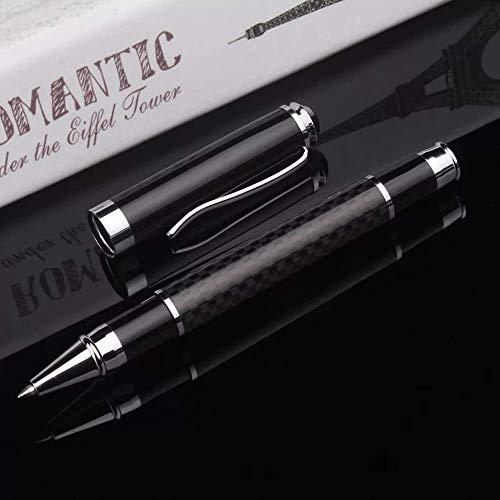 Funmo Stylo à bille, stylo à bille de luxe à plume avancée-- Stylo à bille noir + recharge fine + boîte-cadeau- le meilleur cadeau pour homme