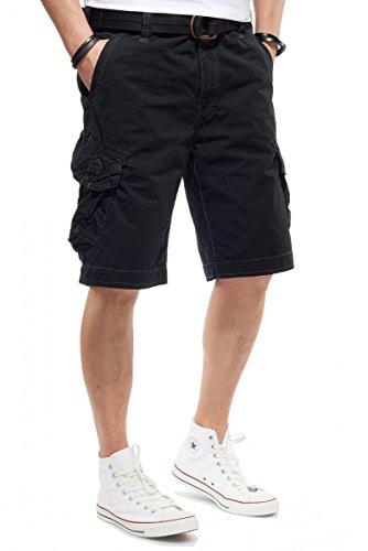 JET LAG Cargo Shorts Take off 3 Modell 16 in schwarz, olive, stone, cement, gold und camouflage, Farbe:Schwarz;Größe:W44