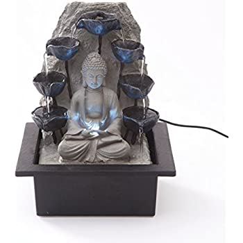 Buddha with Water Cups Indoor water Fountains, water feature UK PLUG