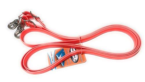 Viva Nature Beta Biothane-Zügel 16mm 25 Farben Handmade (2,50 m, neon orange)
