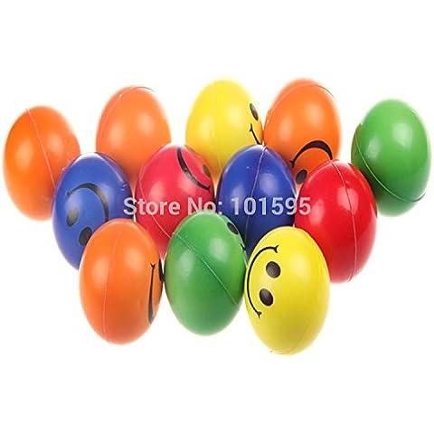 quickcor (TM) 1pcs suave sonrisa feliz bola, bebé juguetes interactivos juguetes niños juguetes, Smash bola 6,3cm de color al azar
