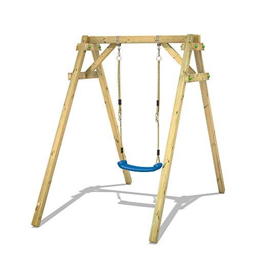 Empfehlung: Massivholz Einzelschaukelgestell mit Schaukelsitz  von Wickey*