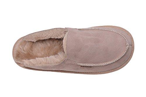 Calde Pantofole Con Fodera In Lana di Pecora Unisex per Uomo e Donna Beige