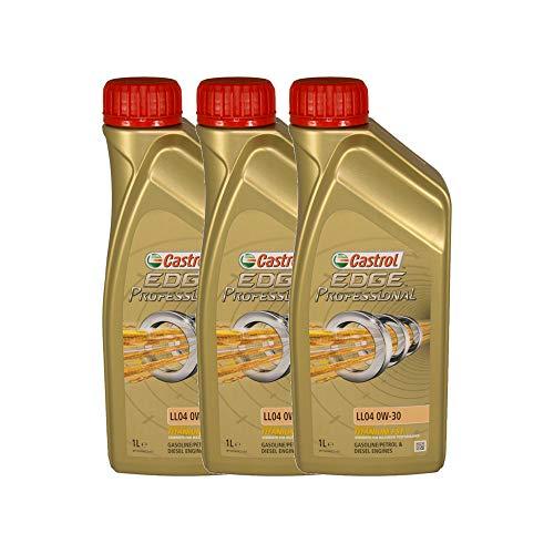 Castrol EDGE Professional Longlife 04 0W30 - Olio per Auto, Lubrificante a Lunga Durata Titanium 0W-30 3 Litri