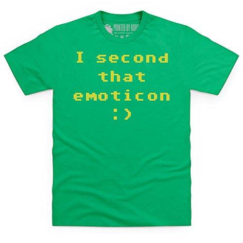 I Second That Emoticon T-Shirt, Herren Keltisch-Grn