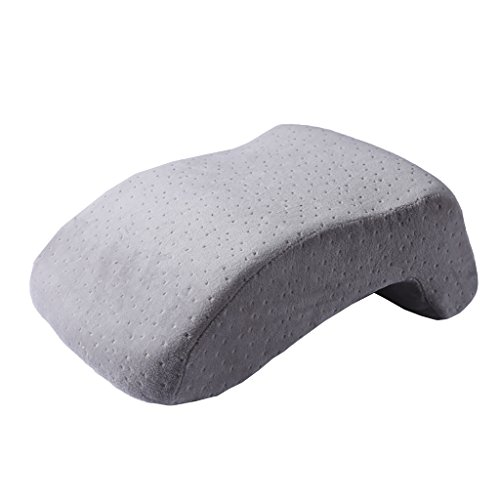 BAIKD-Pillow Lumbar-Kopfkissen bequem und weich Mittagessen Romper Kunsthandwerk Kissen Speicher Baumwolle Koreanisch Medizinisches Nackenstützkissen Büro Nap tragbares Kopfkissen Grau