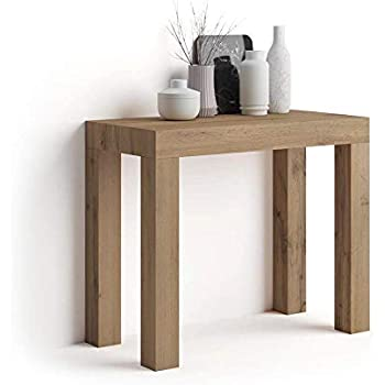 Mobili fiver first extendable console table rustic wood for Made mobili