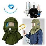 BTdahong - Respiratore a viso intero con alimentazione ad aria regolabile, maschera antigas, filtro a 3 fasi, per sabbiatura e vernice, sistema respiratore ad aria compressa