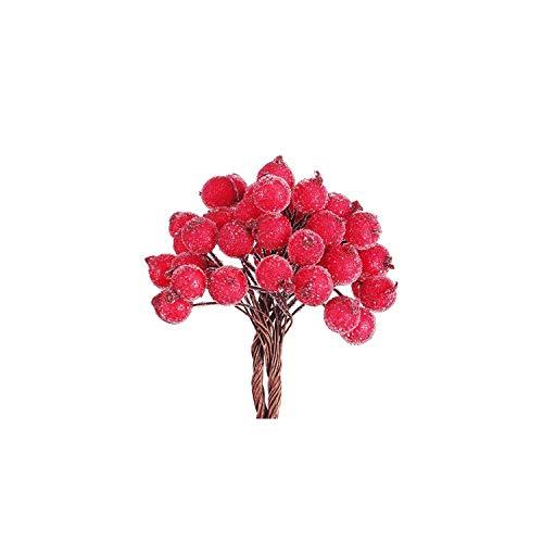 Tiamo Violet Künstliche Obst Dekorative Mini Weihnachten bereiftes Artificial Berry Startseite Garland, Blau,