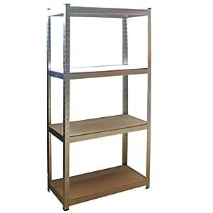 steckregal 160x80x40 cm kostenloser versand 320 kg lagerregal werkstattregal schwerlast. Black Bedroom Furniture Sets. Home Design Ideas