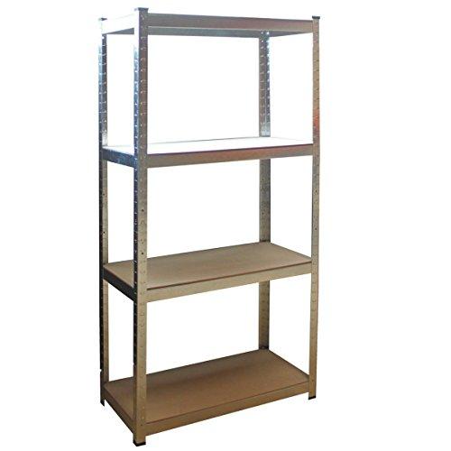 Preisvergleich Produktbild Steckregal 160x80x40 cm + kostenloser Versand / 320 kg Lagerregal Werkstattregal Schwerlast-Regal