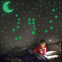 Idea Regalo - Stelle Fluorescenti Adesive Luminosissime – Ricrea Le Costellazioni – LUNA Grande In Regalo – Kit 295 Pezzi – Adesivi Muro Camera Da Letto Bambini Fosforescenti - IMPARA