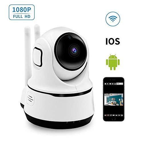 WLAN IP Kamera, LXMIMI 1080P HD Überwachungskamera 355°/120°Schwenkbar Kabellos Sicherheitskamera für Baby/Ältere/Haustier/Kindermädchen Zwei-Wege-Audio, Nachtsicht, Fernalarm und App Kontrolle