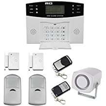 LCD inalámbrico de seguridad funda para SMS GSM Autodial Home casa antirrobo alarma contra intrusos