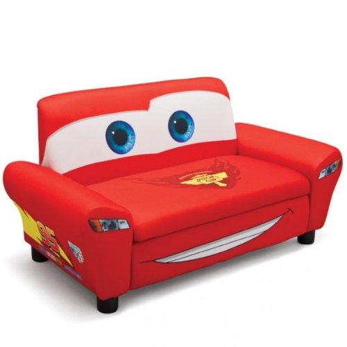 Disney Cars 2er Sofa gepolstert rot aufklappbar Sessel Couch Kindersofa NEU