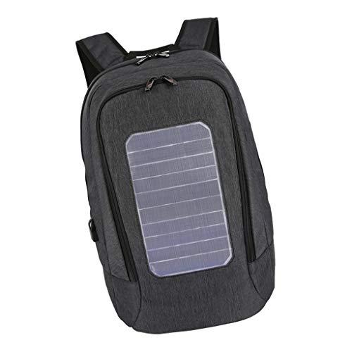 Descripción:       - Hecho de tela oxford de alta calidad, ligera e impermeable - Panel solar de alta eficiencia: el panel solar de 5.3 vatios se puede quitar de la mochila para usar solo. - Lo suficientemente grande como para acomodar hasta ...