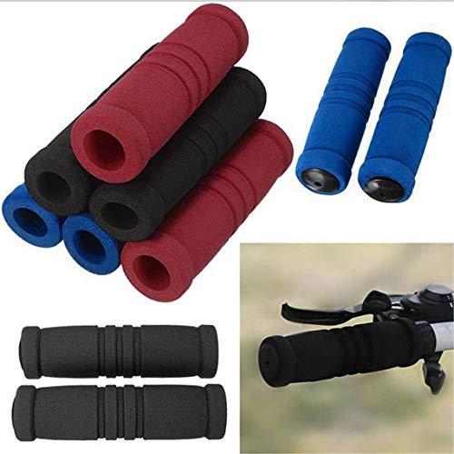Manopole per bicicletta copri manubrio per moto ciclismo ciclismo spugna assorbi ciclisti manubrio copri manopole (colore: nero)