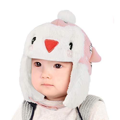 JIAHFR Bonnet Chapka Bébé pour Nouveau-né 3-6Mois Chapeau Mignon Unisexe Hiver Anti-Froid Chapeaux en Velours Coton Chapeau Bonnet Mode Fille Garçon pour Cadeau Noël