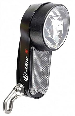 Herrmans H-One S LED Scheinwerfer 75 / 95 Lux Tagfahrlicht Sensor Standlicht für Nabendynamo