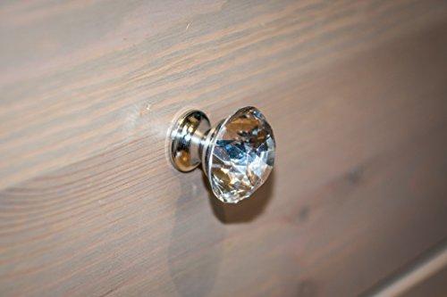 Kleine Diamant geformte Glas Kabinett Knauf-3cm x 3cm (Ein B Q Labyrinth)