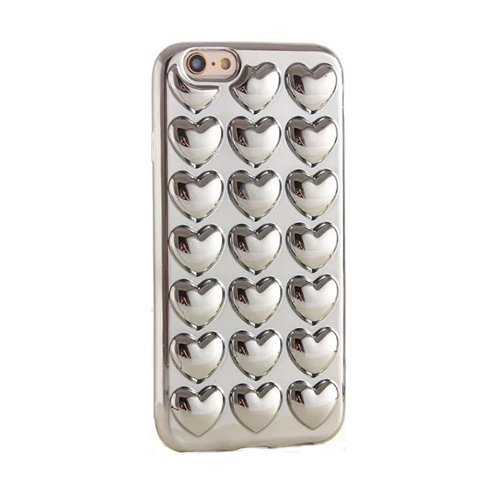 Bubblegum Fällen iphone Love Hearts Pretty Soft Gel Case Cover mit echtem Bubblegum Tasche, silber, iPhone 7 PLUS/ iPhone 8 PLUS (Wallet Gucci Classic)