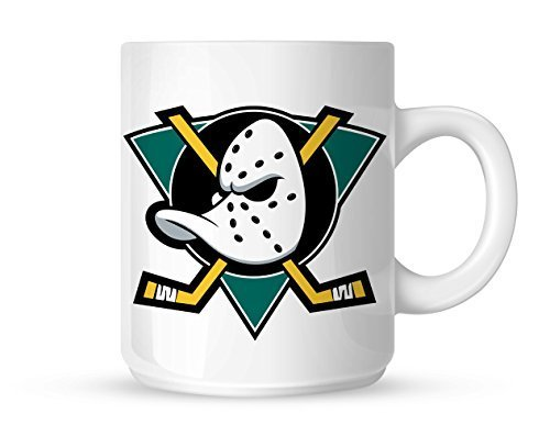 Mighty Ducks Logo Ice Hockey Mug White Mug 10oz by Mug (Mighty Ducks-logos)