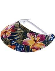 """XFORE visière soleil """"Annet"""" casquette de golf sport tennis pour femmes avec motif floral, taille unique"""