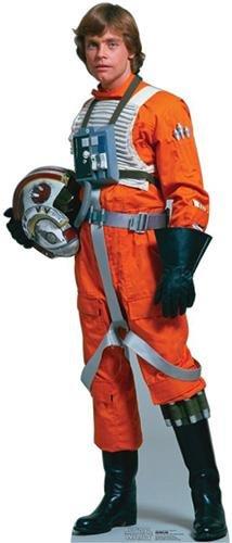 Lebensgroßer Aufsteller aus Pappe (Stand-up, Pappaufsteller, Life-Size) Luke Skywalker Rebel Pilot, 178 cm (Aufsteller Standup Cardboard Cutout)