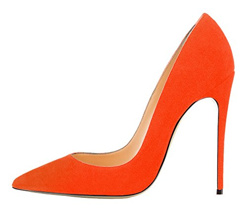 Guoar - Scarpe chiuse Donna (Orange Samt)