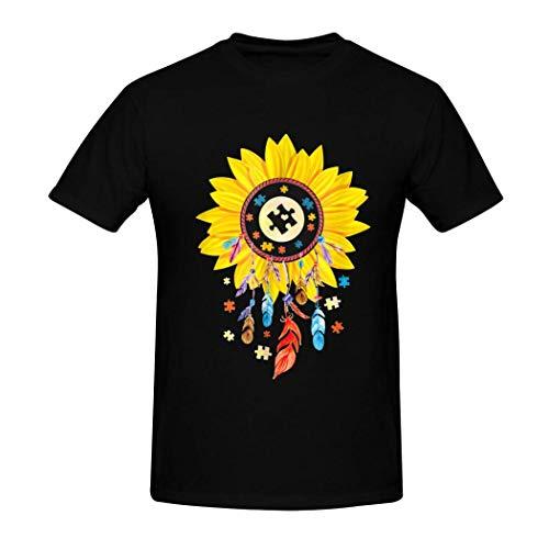QUEETISOLA - Camiseta de algodón para Hombre, diseño de atrapasueños con Autismo, cómoda y Suave