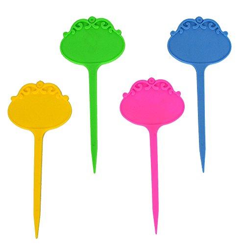 12 marqueurs colorés d'étiquettes de jardin en plastique réutilisables Étiquettes