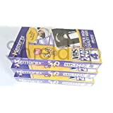 3 x Memorex SHQ 240min (4hr) Blank VHS Video Tapes - Super high quality picture & great sound