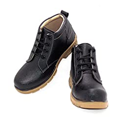 lee shine boys Black Formal Shoe