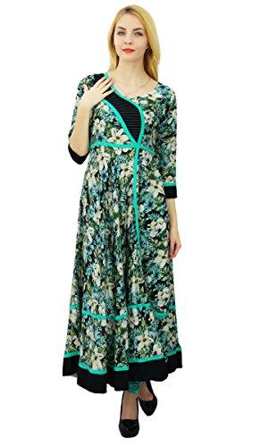 Phagun Designer Floral Anarkali Coton Kurti Femmes Ethniques Kurta Tenue Décontractée Multicolore