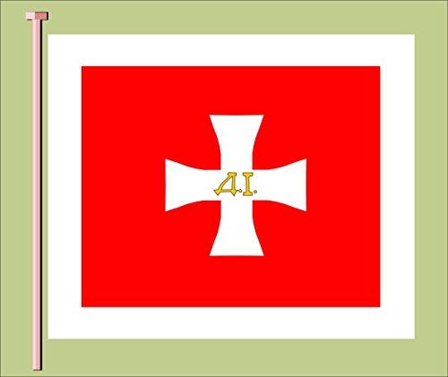 magFlags Flagge: Large Crnogorska stotinaska Zastava iz vremena knjaza Danila | Montenegrin War Flag of Hundred Soldiers at The Time of Prince Danilo I Jovan B | Querformat Fahne | 1.35m² &ra
