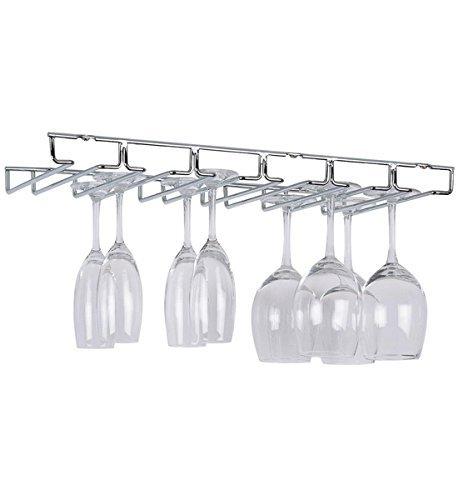'Organisieren It All' Aufhängen Stielglas/Wein Glas Halterung, Chrom