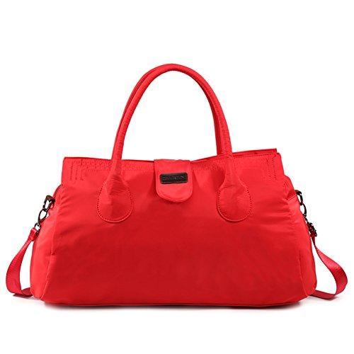 Affondi/borsa delle donne/leggero, semplice, grande capacità borsa da ginnastica/borsa a tracolla-Nero Rosso