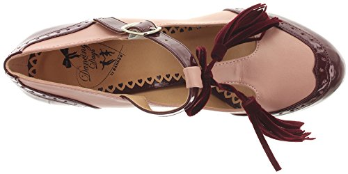 Dancing Days , Bride cheville femme Burgundy-Blush