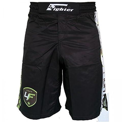 4Fighter Free Fight / Pantalons MMA / UFC Grappling Shorts Noir-vert neon XS - XXXL, Taille:XS