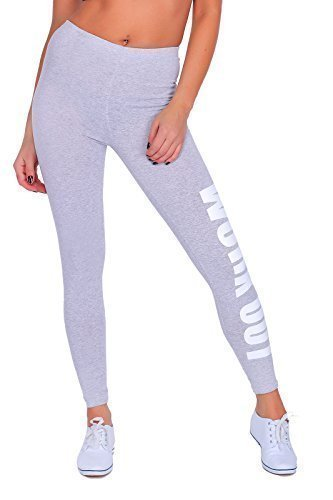 Futuro Fashion Work Out Printed Full Length Cotton Active Leggings Joggers Gym Fitness Test