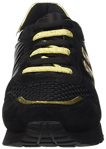 Bikkembergs Numb-Er 741 Shoe W Nabuk/Nylon, Scarpe Low-Top Donna Nero (Black/Gold)