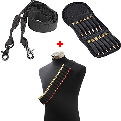 QZY Jagd Fackelgebliche Ammo Carrier Bag Shotgun Bullet Bag Mit Adjustable Gun Shoulder Strap,Black