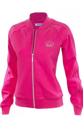 Adidas Originals Rosa Diamonte Track Top , Größe UK10/EU38 , Farbe Rosa Adidas Originals Track Tops