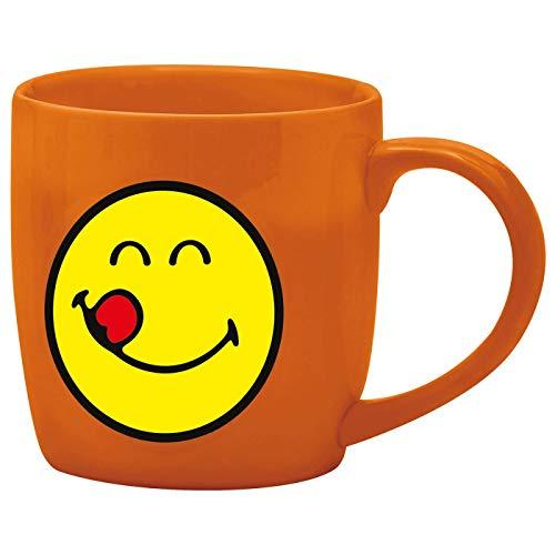 zak! Espresso-Tasse Smiley-Lecker 75ml in orange, Porzellan, 5 x 5.4 x 6 cm - Orangen-espresso-tasse